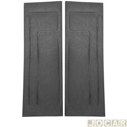 Revestimento de porta - alternativo - Corcel II 1978 até 1986 - Belina II 1978 até 1991 - 2 portas - sem relevo - de napa - preto - par