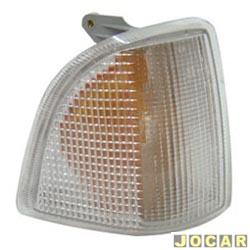 Lanterna dianteira - alternativo - NBS ou IPV - Corcel - Del-Rey - Pampa - Belina 1985 em diante - encaixe Arteb - cristal (branca) - lado do passageiro - cada (unidade) - 0560006