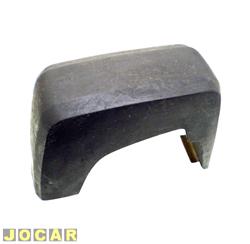Garra do para-choque - alternativo - Corcel II 1978 até 1979 - de borracha - com borrachão - preto - dianteiro - lado do motorista - cada (unidade)