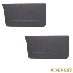 Revestimento de porta - alternativo - Pampa 1982 até 1997 - preto - par