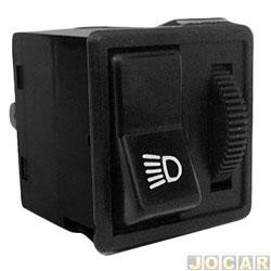 Interruptor do farol - Kostal - Corcel ll 1978 até 1991 - c/ reostato - preto - lado do motorista - cada (unidade) - 4201000