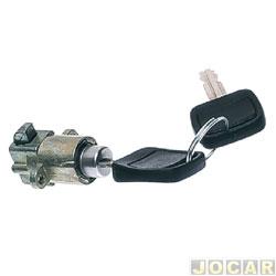 Botão do porta-luvas - Corcel II/Belina II 1977 até 1984 - com chave - cromado - cada (unidade)
