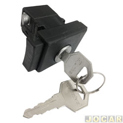 Botão do porta-luvas - Del Rey 1981 até 1991 - com chave - cada (unidade)