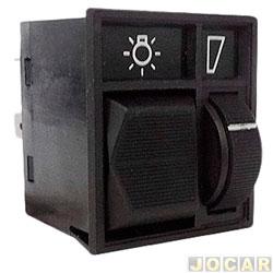 Interruptor do farol - Kostal - Del Rey/Pampa 1988 até 1997 - com reostato-led verde - cada (unidade) - 4201030