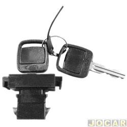 Botão do porta-luvas - Del Rey/Pampa 1985 até 1997 - com chave - cada (unidade)