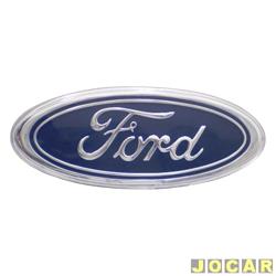 Emblema - Original Ford - Escort 1997 at� 2003 - Ka 1997 at� 2014  - grade - contorno e escrita cromados com fundo azul - cada (unidade) - 95FB/425A52/AB