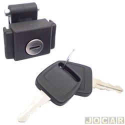 Botão do porta-luvas - alternativo - Escort 1983 até 1992 - com chave - preto - cada (unidade)