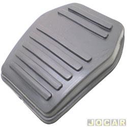 Capa de pedal - Escort 1984 até 1996 - freio/embreagem - preta - cada (unidade)