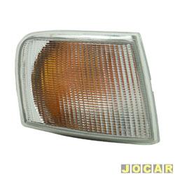 Lanterna dianteira - HT Lanternas - Escort - 1993 até 1996 - Com metalização - branca - lado do passageiro - cada (unidade) - 92120