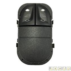 Interruptor do vidro - Escort hatch/sedan/wagon - 1997 at� 2003 - duplo - preto - cada (unidade)