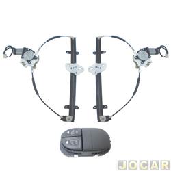 Kit vidro elétrico - Escort 19997 até 2003 - 4 portas - sem moldura - só portas dianteira  - jogo