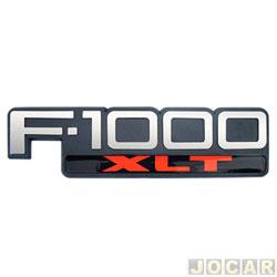 Letreiro - alternativo - F-1000 1996 até 1998 - F-1000 XLT prata/vermelho - cada (unidade)