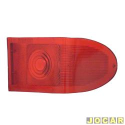 Lente da lanterna traseira - alternativo - Acrilux - Rural 1959 até 1977 / F-75 1970 até 1982 - curva - vermelha - lado do passageiro - cada (unidade) - 383122