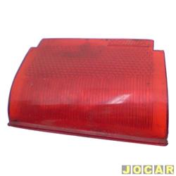 Lente da lanterna traseira - alternativo - Acrilux - Rural 1969 até 1977 - Rural F75 - 1970 até 1982 - reta - vermelha - lado do motorista - cada (unidade) - 3836.12