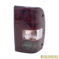 Lanterna traseira - Original Ford - Ranger 2004 até 2009 - lado do passageiro - cada (unidade) - 51.5513B504BA