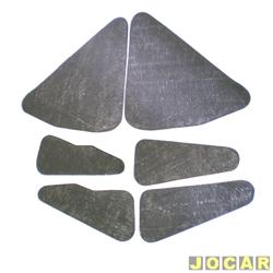 Anti-ruído do capô - Toroflex / Vibrac System - F-1000 - 1992 até 1996 - auto-adesivo - preto - jogo - 00302