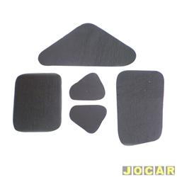 Anti-ru�do do cap� - alternativo - Toroflex - F-1000 - 1979 at� 1991 - auto-adesivo - preto - jogo - 00359