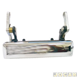 Maçaneta da tampa da caçamba - F1000 1993 até 1996 - cromada - cada (unidade)