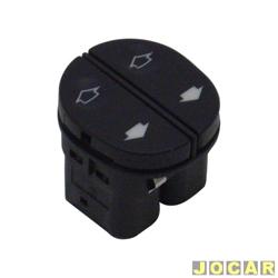 Interruptor do vidro - Fiesta 1996 até 2002 - Ka 1997 até 2007 - duplo - preto - cada (unidade)