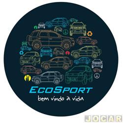 Capa de estepe - Comix Acessórios - EcoSport 2003 em diante - Eco color - cada (unidade) - CC561