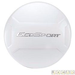 Capa de estepe - Marçon - EcoSport 2013 em diante - Branco Artico - Com Cadeado - cada (unidade) - EC-028