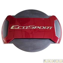 Capa de estepe - Marçon - EcoSport 2013 em diante - Vermelho Merlot - parcial - cada (unidade) - PEC-031