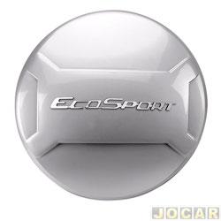 Capa de estepe - Marçon - EcoSport 2013 em diante - Prata Enseada - Com Cadeado - cada (unidade) - EC-033