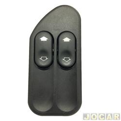 Interruptor do vidro - Kostal - Ecosport 2003 até 2012 - Fiesta 2002 até 2014 - Duplo - cada (unidade) - KOS 3164805