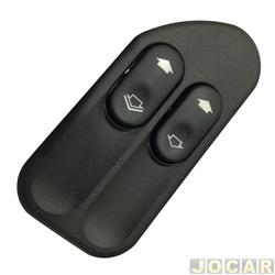 Interruptor do vidro - Kostal - Ecosport 2003 até 2014 / Fiesta 2002 até 2014 - Duplo - cada (unidade) - KOS 3164815