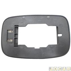 Base da lente do retrovisor - alternativo - Fiesta 1996 até 2002  - lado do passageiro - cada (unidade)