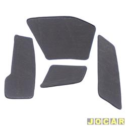 Anti-ruído do capô - Toroflex / Vibrac System - Ka 1997 até 2007 - auto-adesivo - preto - jogo - 01116