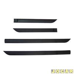 Friso lateral - alternativo - Focus 2000 até 2008 - 4 portas - auto colante - preto - jogo