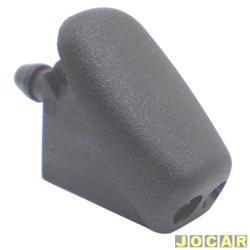 Esguicho de água do para-brisa - alternativo - Focus hatch/sedan - 2000 até 2008 - preto - cada (unidade)