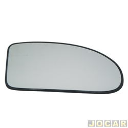Lente do retrovisor com base - SPJ - Focus hatch/sedan 2000 até 2008 - lado do passageiro - cada (unidade) - EB102