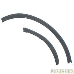 Moldura do para-lama - alternativo - EcoSport - 2003 até 2007 - traseiro - 2 peças - preta - lado do passageiro - jogo