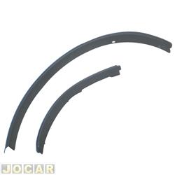 Moldura do para-lama - alternativo - EcoSport 2003 até 2012 - traseiro - 2 peças - preta - lado do motorista - jogo