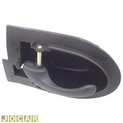 Maçaneta interna da porta - Fiesta 1996 até 2002 2 e 4 portas - Courier 1999 até 2013 - preta - lado do motorista - cada (unidade)
