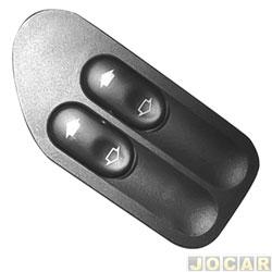 Interruptor do vidro - alternativo - Fiesta/EcoSport - 2003 até 2007 - duplo - lado do motorista - cada (unidade)