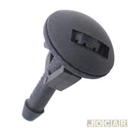 Esguicho de água do para-brisa - alternativo - Fiesta 1993 até 1995 - preto - cada (unidade)