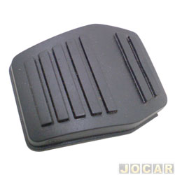 Capa de pedal - Fiesta 1996 até 2002 - Ka 1997 até 2007 - Escort 1993 até 2003 - freio/embreagem - preto - cada (unidade)