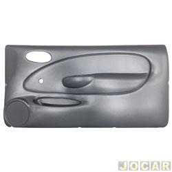 Revestimento de porta - alternativo - Fiesta 1996 até 2002 - moldado - com vidro manual - 2 portas - cinza - lado do passageiro - cada (unidade)