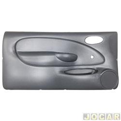 Revestimento de porta - alternativo - Fiesta 1996 até 2002 - moldado - com vidro manual - 2 portas - cinza - lado do motorista - cada (unidade)