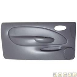 Revestimento de porta - Fiesta 1996 até 2002 - moldado - para vidro elétrico - 2 portas - cinza - lado do motorista - cada (unidade)