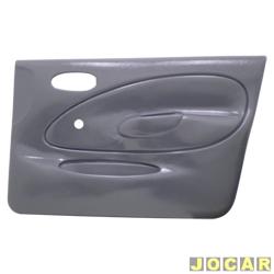 Revestimento de porta - alternativo - Fiesta hatch 1996 até 2002 - sedan 2001 até 2004 - moldado - para vidro manual - 4 portas - cinza - lado do passageiro - cada (unidade)