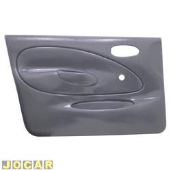 Revestimento de porta - alternativo - Fiesta hatch 1996 até 2002 - sedan 2001 até 2004 - moldado - para vidro manual - 4 portas - cinza - lado do motorista - cada (unidade)