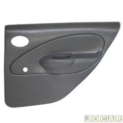 Revestimento de porta - alternativo - Riverplast - Fiesta 1996 até 2002 - moldado - para vidro manual - 4 portas - cinza - traseira - par - 1311