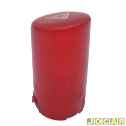 Lente interruptor emergência - Fiesta hatch - 2000 até 2002 - Sedan 2001 até 2004 - Longa - vermelha - cada (unidade)