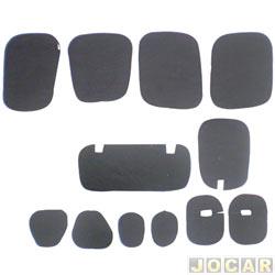 Anti-ruído do capô - Toroflex / Vibrac System - Fiesta 2003 até 2007 - auto-adesivo - preto - jogo - 03463