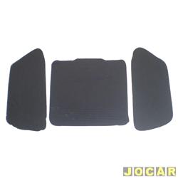 Anti-ruído do capô - Toroflex / Vibrac System - Fiesta 2000 até 2002 - Courier 2000 em diante - auto-adesivo - preto - cada (unidade) - 01182