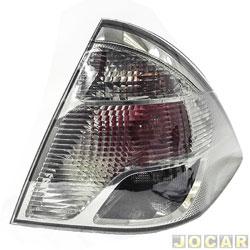 Lanterna traseira - Original Ford - Fiesta Sedan 2011em diante - fumê - traseiro - lado do passageiro - cada (unidade) - BS65/13A602/BD